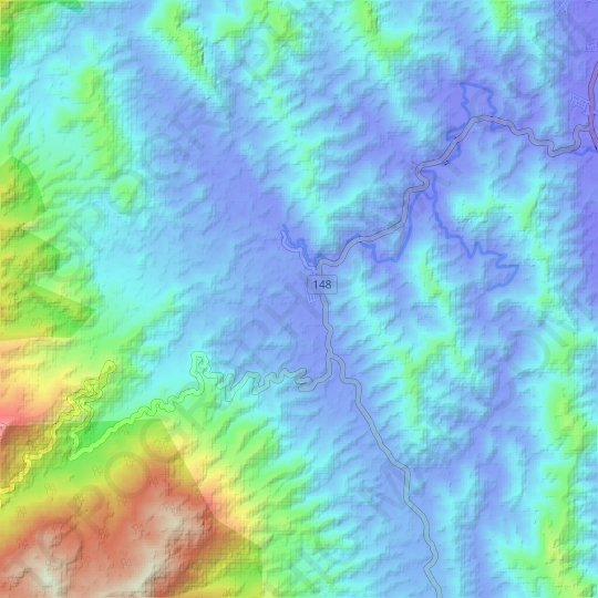 Tras topographic map, relief map, elevations map