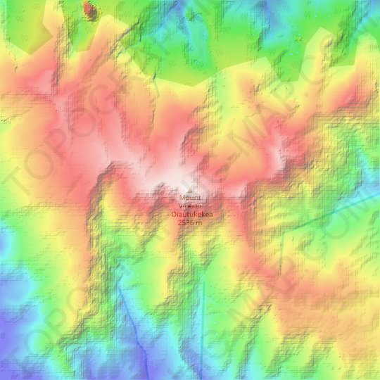 Mount Vineuo topographic map, relief map, elevations map